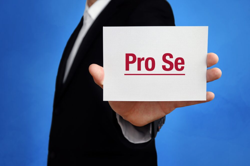 Pro-Se Litigation Can be Effective, but Seek Assistance